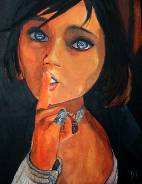 Elizabeth (Bioshock Infinite), Acrylique sur toile, 26,5x35 cm