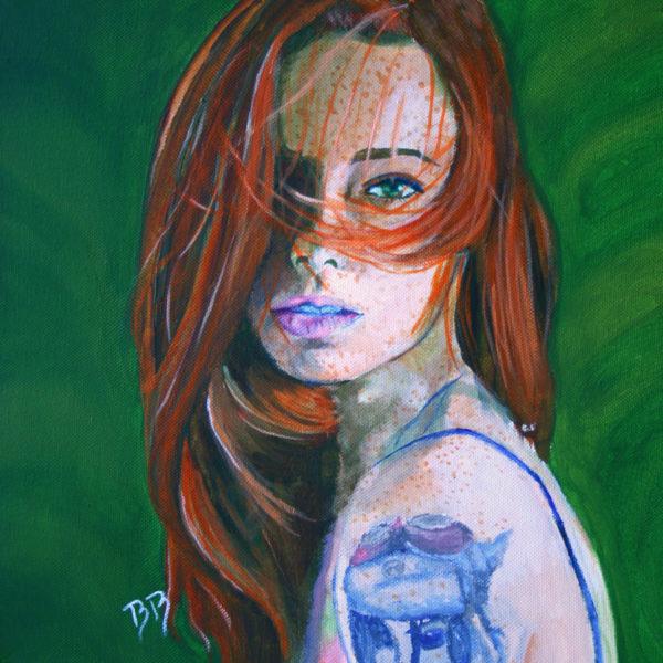 Hattie Watson, Acrylique sur toile