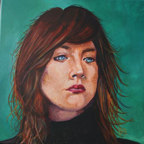 Saoirse Ronan, 40x40cm, acrylique sur toile